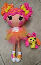 "12"" Lalaloopsy Doll Sweetie Candy Ribbon with Pet Dog ages 4+ EUC Full Size"