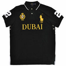 Polo Ralph Lauren Big Pony Black  Shirt Men's Custom Fit Mesh Dubai  Medium M