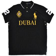 Polo Ralph Lauren Big Pony Chemise noire Homme Custom Fit Mesh Dubai Grande L