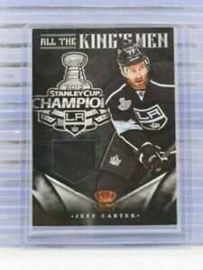 2012-13 Rookie Anthology Jeff Carter All The King's Men Game Used Jersey G61