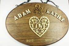 """17 cm x 25 cm Personalized Family Wood  Wedding Gift Name Sign 10"""" X 6,5"""" #01"""