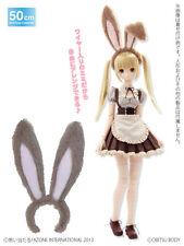 Azone 50cm Fluffy Usamimi Rabbit Ears Headband Cocoa Yamato VMF50 Obitsu 1/4 BJD