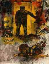 Walter SPITZER - GEMETZEL - Limitierte OriginalFarblithographie  1959 - PARIS