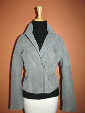 New Levi's Womens Size PL Antiqued Grey Leather Moto Motorcycle Jacket