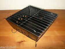 FALTGRILL  CAMPINGGRILL BBQ HOLZKOHLENGRILL AUS BLECH MIT ROST CAMPEN ANGELN NEU