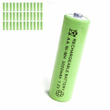 36 pcs AA 2A 3000mAh 1.2V Ni-MH rechargeable battery Solar Light MP3 Toy Green