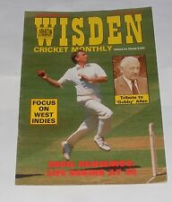 WISDEN CRICKET MONTHLY JANUARY 1990 - GUBBY ALLEN TRIBUTE/FOCUS ON WEST INDIES