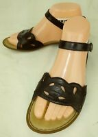 Born D32904 Womens Sandals US 6 M Blue Leather Ankle Strap Open toe Casual 115