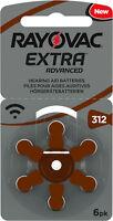 120 x Rayovac Extra Advanced Hörgerätebatterien 312 20 Blister 312AU-6XEMF