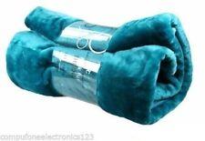 Luxury Rich Soft Sofa Bed Runner Fleece Sea Blue Mink Throw Blanket 200x240 XL