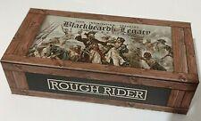 Rough Rider Pirate Skull Hunting Pocket Knife W/ Display Case Black Bone !