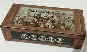 ROUGH RIDER PIRATE SKULL HUNTING POCKET KNIFE W/ DISPLAY CASE BLACK BONE  !!!