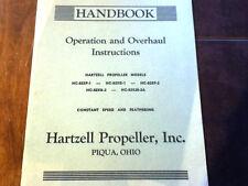 Hartzell HC-82XF-1, HC-82XG-1, HC-82XF-2, HC-82XG-2, HC-82X20-2A Overhaul Manual