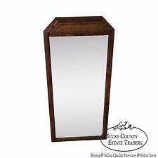 Vintage Walnut Faux Bamboo Frame Wall Mirror