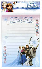 Disney FROZEN THANK YOU Sheets 20 Pack includes Envelopes Girls Party Birthday