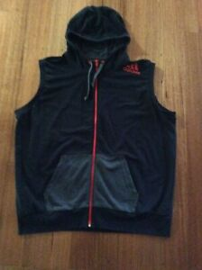 ADIDAS HOODED SLEEVLESS TOP SIZE 2XL