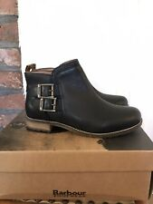 Barbour Women's Leather Sarah Ankle Boots Size UK5, EU38 - Black