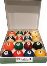 """2"""" SPOTS AND STRIPES POOL BALLS WITH 1 7/8 SPOTTED WHITE BALL (UK STANDARD SIZE)"""