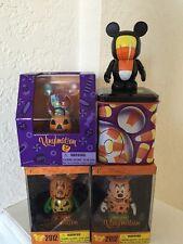 Vinylmation Halloween Candy Corn tin, witch minnie, jack o'lantern, candy basket