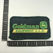 Vtg Version 1 GOLDMAN EQUIPMENT LLC. JOHN DEERE DEALER Advertising Patch 08TD