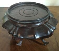 Chinese Carved Wood Display Stand for Kangxi Porcelain Vase or Lamp Base Tall