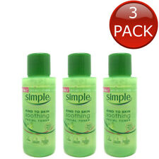3 x SIMPLE KIND TO SKIN SOOTHING FACIAL TONER 50ml  FACE SKIN CARE CLEANSER
