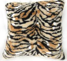 Fi706a Light Tan Tiger Long Faux Fur Cushion Cover/Pillow Case*Custom Size*