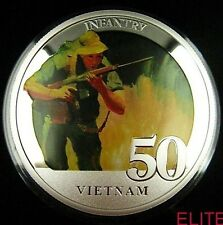 AUSTRALIAN INFANTRY VIETNAM LIMITED EDITION COIN MEDAL SERIAL No 0477