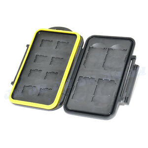 JJC Water-resistant Holder Storage Memory Card Case Cover for 4 SD & 8 MSD Cards