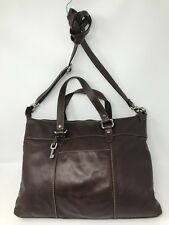Fabulous Fossil Brown Genuine Leather Satchel / Briefcase