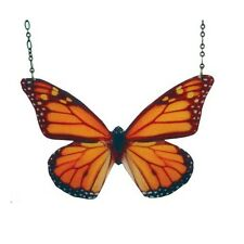 Monarch Butterfly resin pendant Beijo Brasil Necklace large statement piece!