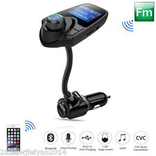 "12V Car Wireless Bluetooth 1.44""Screen FM Transmitter Modulator MP3 Audio Player"