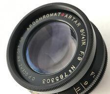 Goerz 8 1/4 inch F9 Apochromat Red Dot Artar 210 mm 4x5 5x7 large format