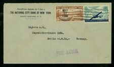 Dominican Republic 1935 Airmail Santo Domingo to Germany franked Scott C20, 296