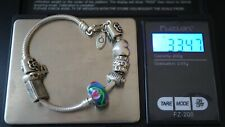 Vintage PANDORA & Michael Antony Sterling Silver Slider Charms with Bracelet