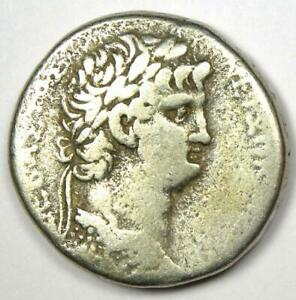 Roman Antioch Nero AR Tetradrachm Coin 54-68 AD - VF (Very Fine) - Rare Coin!
