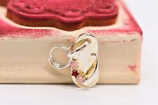 LINKS OF LONDON - Flip Flop Charm with Pink Enamel Flowers Sterling Silver
