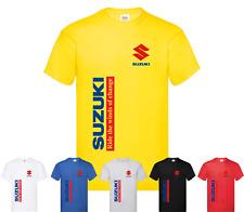 Tshirt uomo maglietta stile moto Suzuki cotone 100% estate 2021