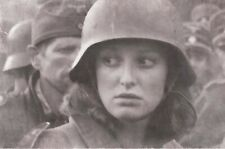 Memorabilia wermaht woman face vintage Rare War Photo WW2 4x6 W