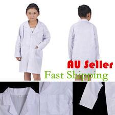 Kid Lab Coat Doctor Hospital Scientist School Fancy Dress Costume Children White