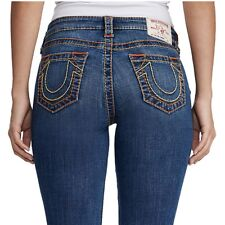 True Religion Women's Big T Straight Leg Super Stretch Jeans in Positive Vibes