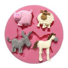 Animals Horse Cat Sheep Silicone Mould Chocolate Fondant Cake Sugar-craft Icing