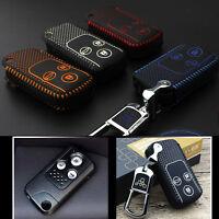 High Quality leather Smart Remote Key Case Cover Holder For Honda Civic/SPIRIOR