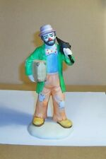Emmett Kelly Figurine, Holding Umbrella & Suit Case.