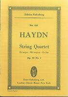 Haydn ~ String Quartett Es Dur Op. 20 No. 1 ~ Taschenpartitur