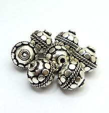 8MM 10MM 12MM 16MM ANTIQUE STERLING  SILVER 18K GOLD PLATED COPPER BALI BEAD 14