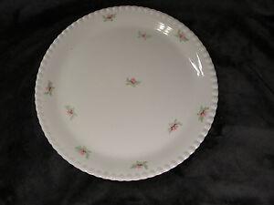 "Rosebuds Handpainted Dinnerware, Made in U.S.A. Large Round Platter, 11 1/2"""