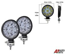 2 Pcs Best Quality 27w 9 Led Spot Beam Round Work Lights Lamps Offroad Tractor