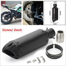 38-51mm In Motorcycle Racing Adjustable Slip-on Black Exhaust Tail Pipe Muffler
