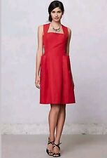 ANTHROPOLOGIE Dress size 6 Mirror of Venus Hanna Racerback Red Bow  $228 B20